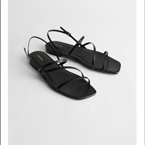 NWT & Other Stories strappy leather slingbacks 41